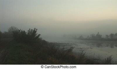 mist 3 - morning mist over the lake
