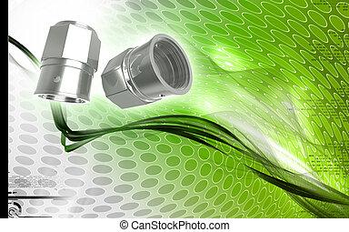 Valve caps - Digital illustration of Valve caps in colour...