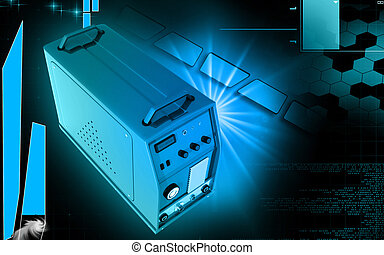 Inverter - Digital illustration of inverter in colour...