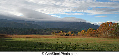 Cades Cove - An autumn view of Cades Cove in Great Smokey...