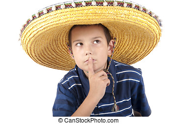 Portrait of the teenager in a sombrero - The eleven-year...