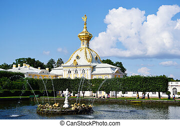 West wing of the Big Palace in Peterhof