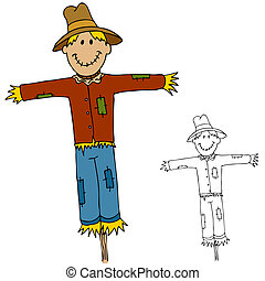 Scarecrow Man - An image of a scarecrow man