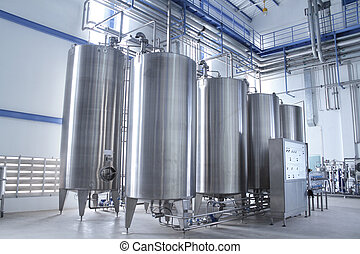 Water treatment equipment - Modern machinery in a...