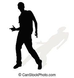 man silhouette posing