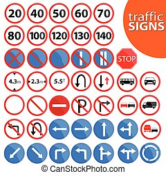 traffic sign vector illustration - traffic sign in color...