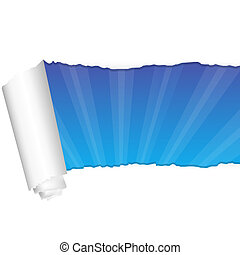 Paper And Rays, Isolated On White Background, Vector...