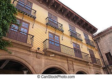 Poble Espanyol, Spanish village in Barcelona, Spain