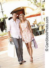 Couple Enjoying Shopping Trip Together