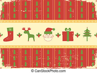 Vintage christmas background card for holiday