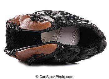 softball ball and glove