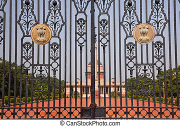 Rashtrapati Bhavan Gate The Iron Gates Official Residence...
