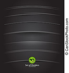 Vector dividers - Collection of vector dividers for web