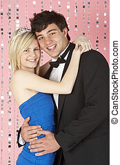 Young Couple Dressed For Party