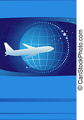 ticket on international airlines - Blue cover of ticket on...