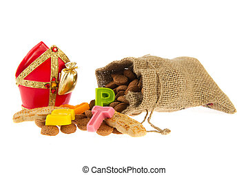 Jute bag with Dutch Sinterklaas candy - Traditional Dutch...