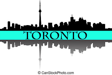 Toronto skyline - City of Toronto high rise buildings...