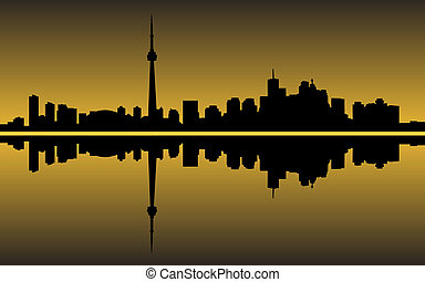 Toronto - City of Toronto high rise buildings skyline