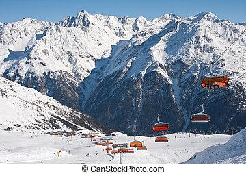 Chair ski lift. Solden. Austria