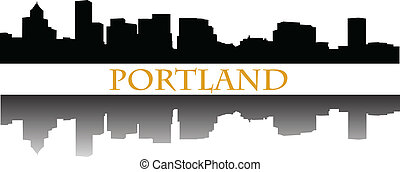 Portland - City of Portland high-rise buildings skyline