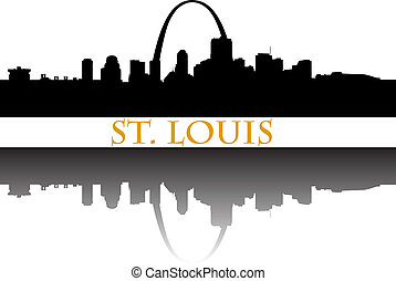 St Louis - City of St Louis high-rise buildings skyline