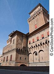 Estense Castle. Emilia-Romagna. Italy.
