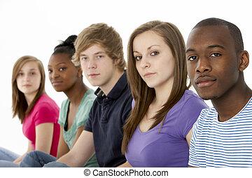 Group Of Teenage Friends In Studio