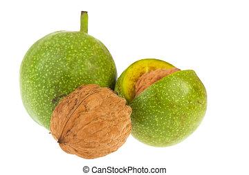 Walnuts in husk