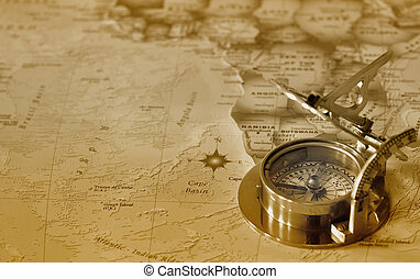 old compass on e map