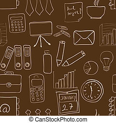 seamless pattern - brown business seamless pattern