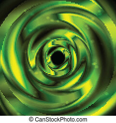 Bright green abstraction