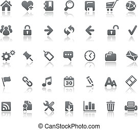 Website and Internet Icons Basics - Vector icons for your...