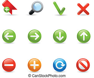 Web Navigation Gel Icon Series - Gel icons for your website...