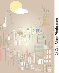 Abstract Rising Cityscape Bright Si