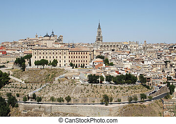 Toledo in Spain - Old town of Toledo, beside the Tagus...