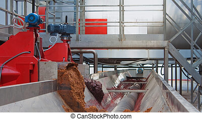 Equipment on production wine - Wine making process, modern...