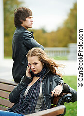 relationship difficulties of young people couple - problem...