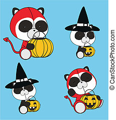 panda bear baby cartoon halloween2 - panda bear baby cartoon...