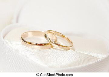 wedding rings - abstract scene with wedding rings as...