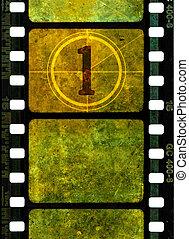 Vintage 35mm movie film reel - Vintage 35mm film reel,...