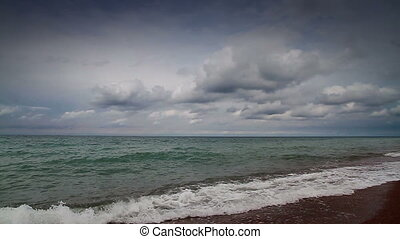 Gathering Storm - The sea in front of the deteriorating...