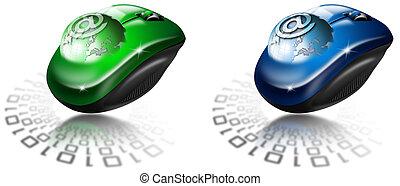Mouse globe e-mail