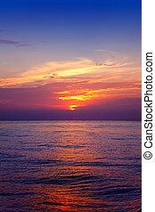 Mediterranean sea sunrise water horizon