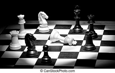 Check mate in black and white