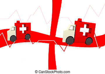 ambulance symbol - Highly rendering ambulance symbol in...
