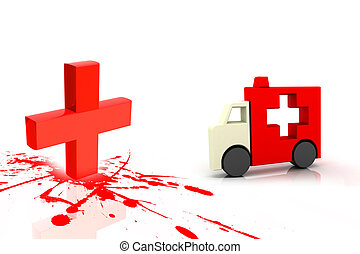 Clinical sign and ambulance symbol