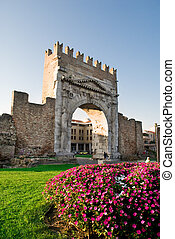 Arch of Augustus, in Rimini, Italy