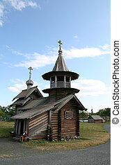 Old wooden church on Kizhi island Russia