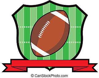 Gridiron Football Shield - American football shield wit...