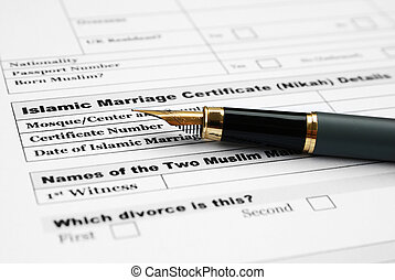 Islamic marriage certificate